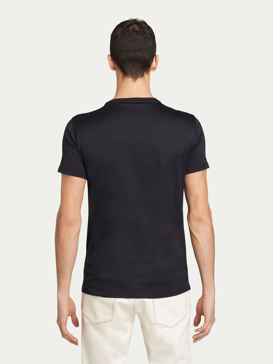 Regular fit jersey T shirt with maxi brand lettering
