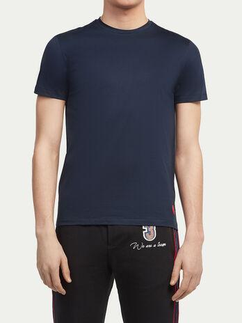 Camiseta de puro algodon con logo