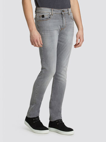 Extra slim Seasonal 370 jeans in distressed denim