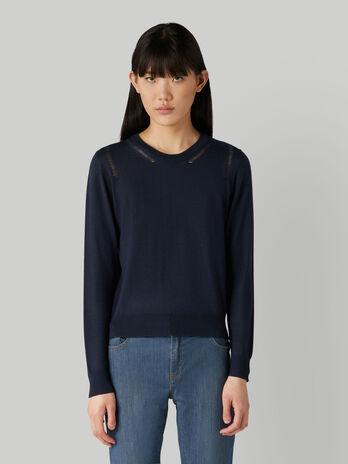 Pullover regular fit in mista lana