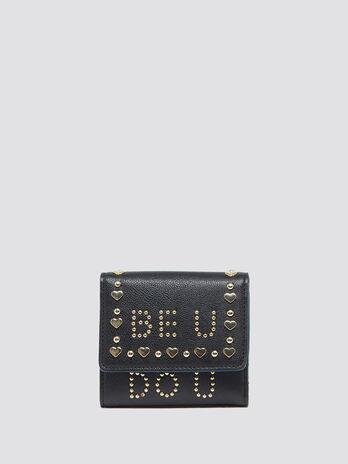 Portafoglio Paprica mini con pattina e borchie