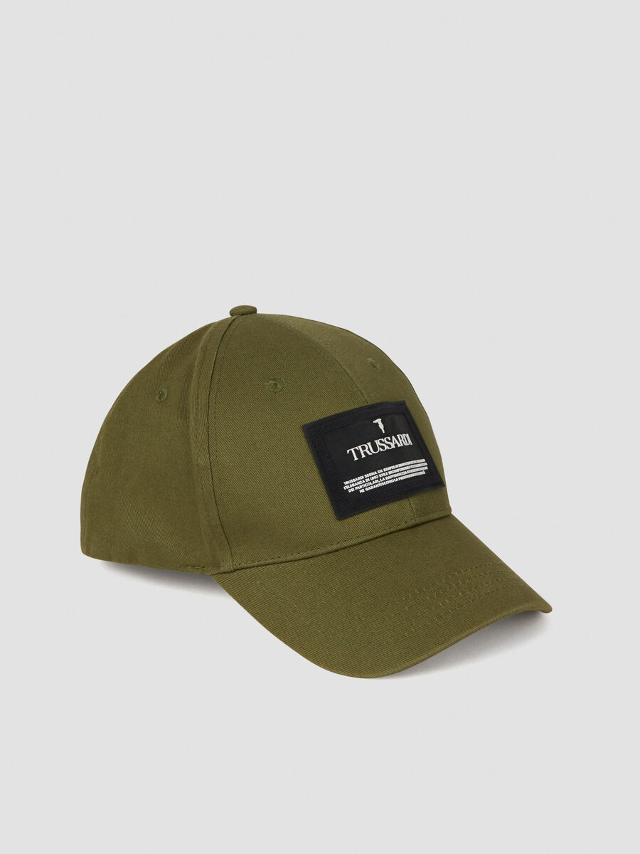 Basecap aus Baumwolle mit Logopatch