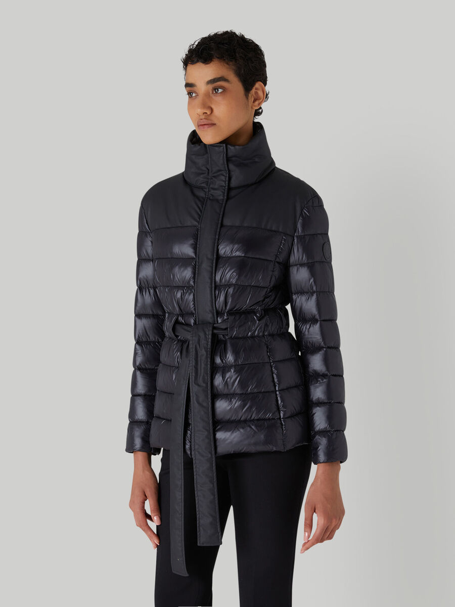 Quilted nylon down jacket