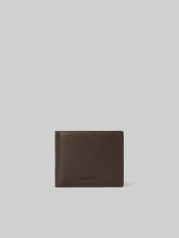 Zweiteilige Geldboerse aus gehaemmertem Leder