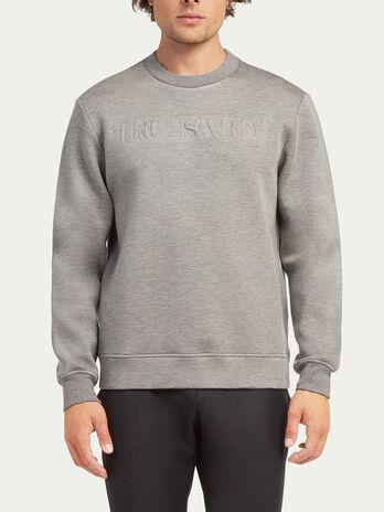 Regular fit scuba sweatshirt with lettering