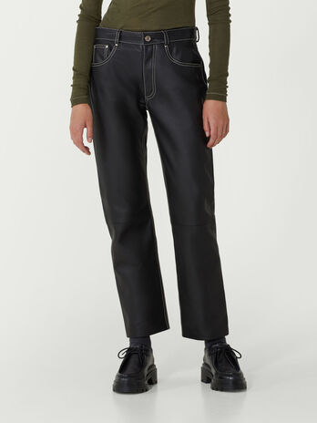 Trousers in nappa sport