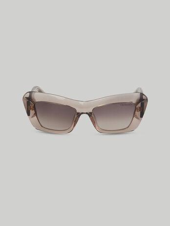 Bold acetate cat-eye sunglasses
