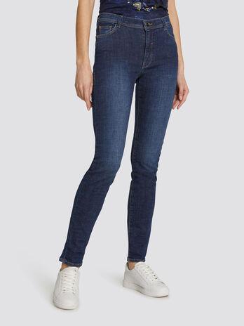 Skinny Basic 105 jeans in dark solid colour denim