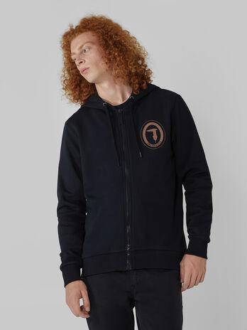 Sweat-shirt a capuche coupe classique avec logo