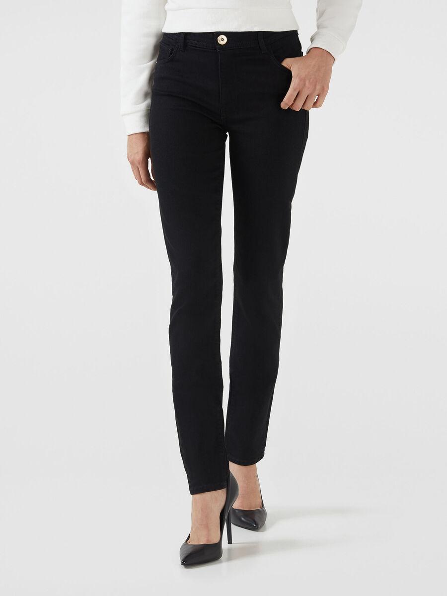 Skinny 105 jeans in black Diego denim