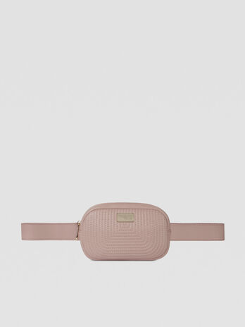 Frida belt bag in quilted faux leather