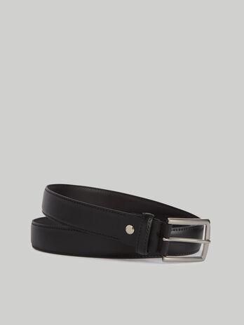 Cinturon Entry de piel en color liso
