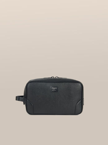 Trousse de toilette Business grand format cuir Crespo