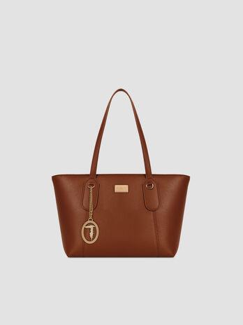 Small faux leather Monaco shopper