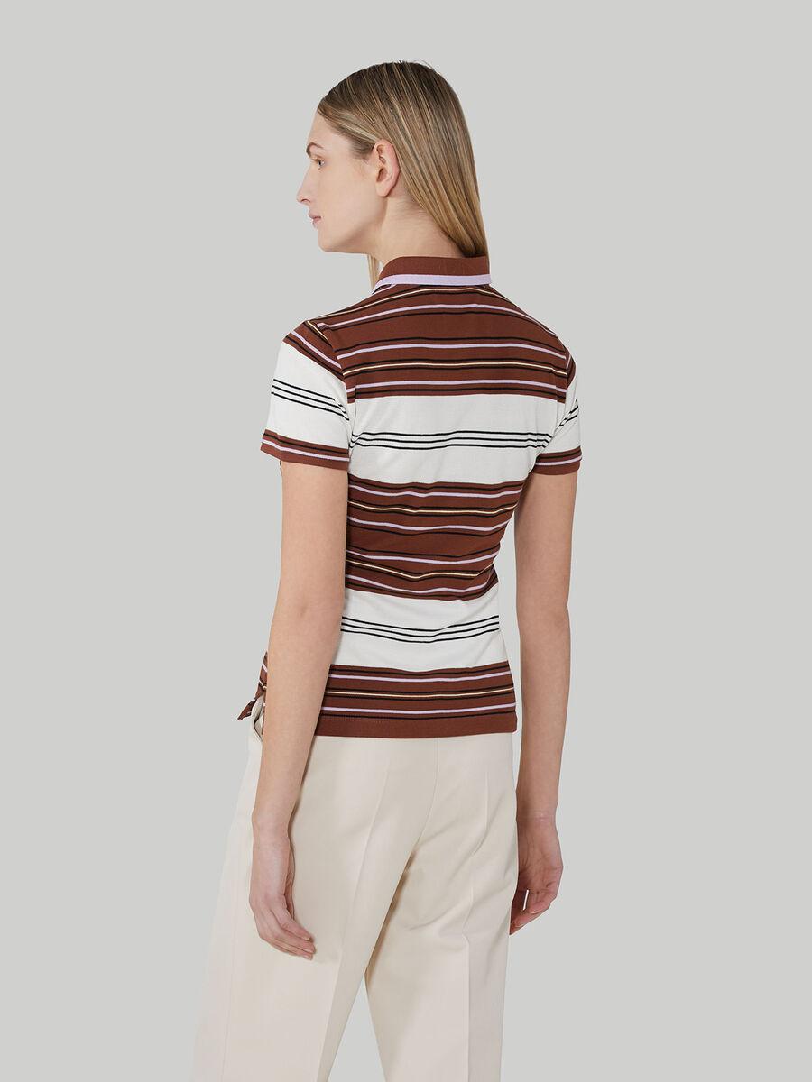 Slim-fit cotton pique polo-shirt