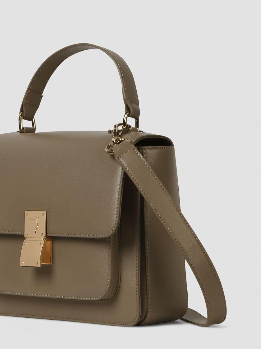 Medium faux leather Lione handbag