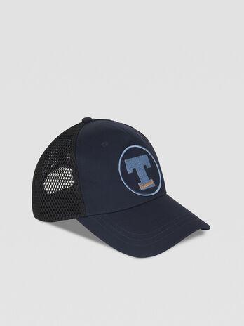 Cotton baseball cap with logo