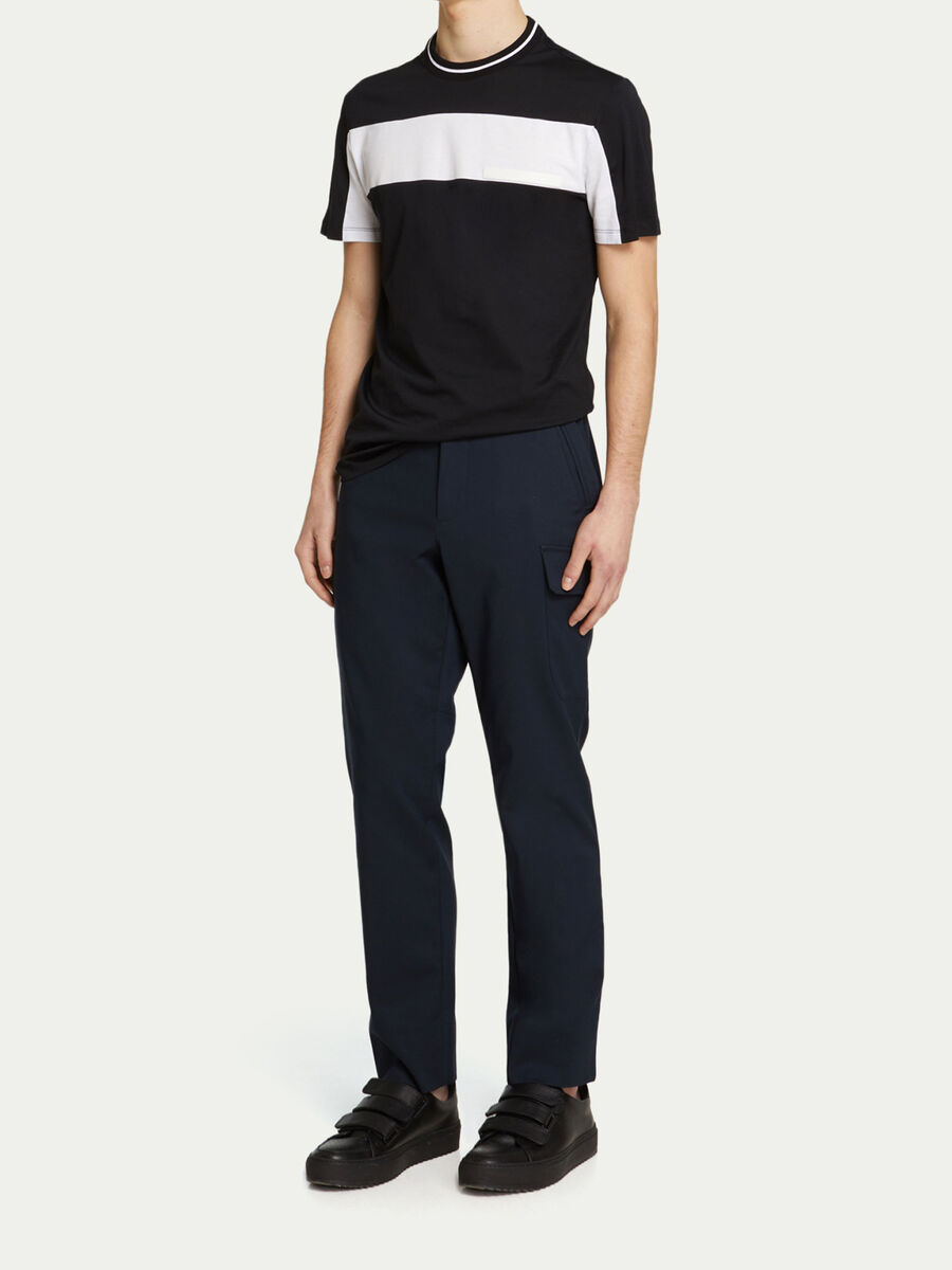 Regular Fit T Shirt aus Jersey mit Streifen