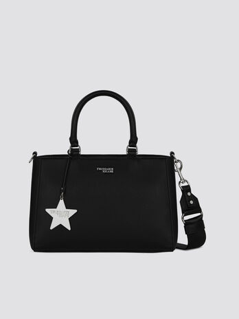 Medium T-Easy Star handbag in faux leather with charm