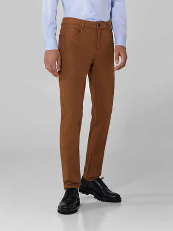 Cotton pique Close 370 trousers
