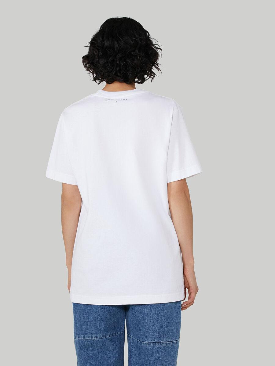T-shirt coupe over en jersey a imprime polarise