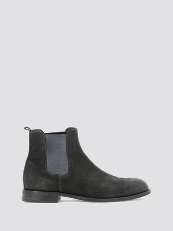 Nubuck ankle boots with bands