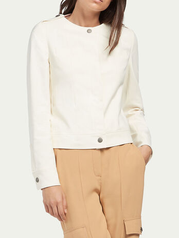 Cotton gabardine jacket