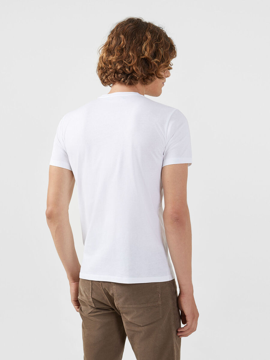 Regular fit jersey T-shirt with contrasting band