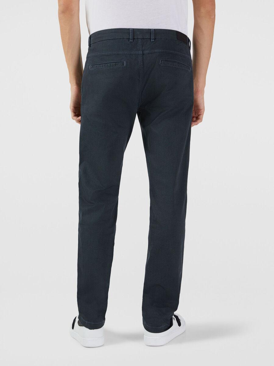 Stretch gabardine 70s trousers