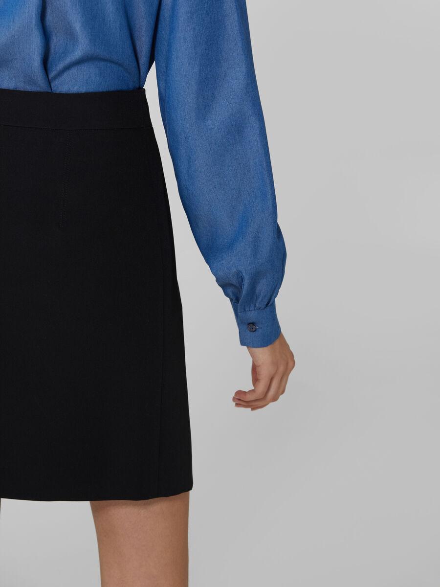 Short technical cady skirt