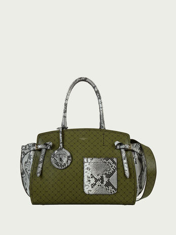 Gita Bag large monogram and python