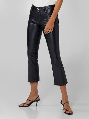 Pantalone Kick in similpelle stretch
