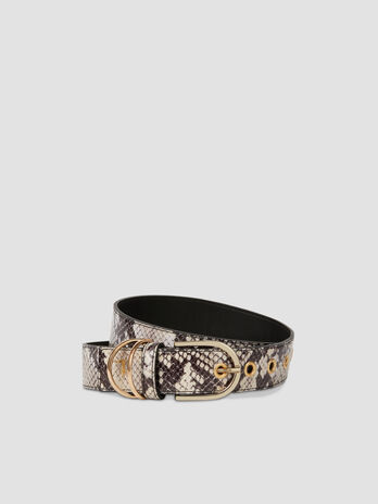 Python print faux leather belt