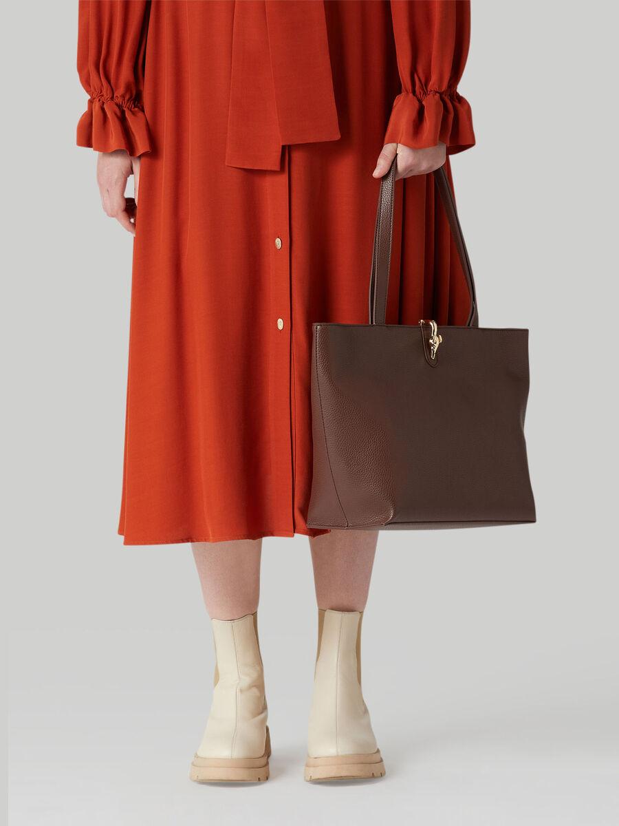 Medium Emma shopper with deerskin print
