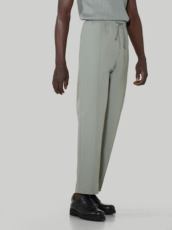 Technical cotton jogging bottoms
