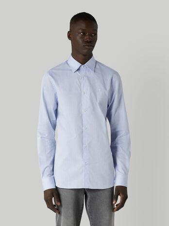 Camisa de corte regular de algodon texturizado