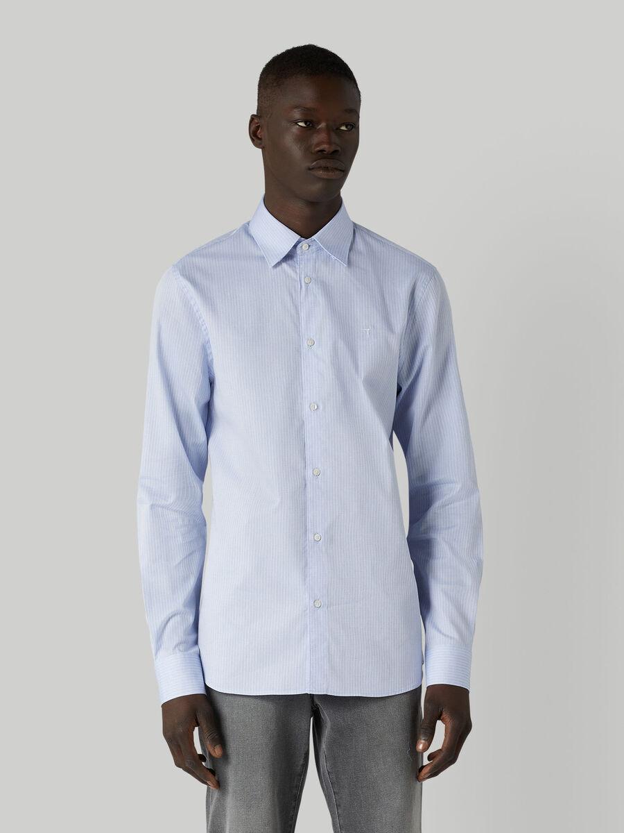 Hemd im Regular-Fit aus strukturierter Baumwolle
