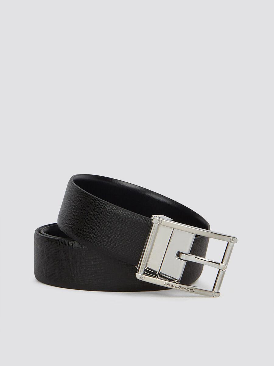 Business Affair belt in monochrome saffiano