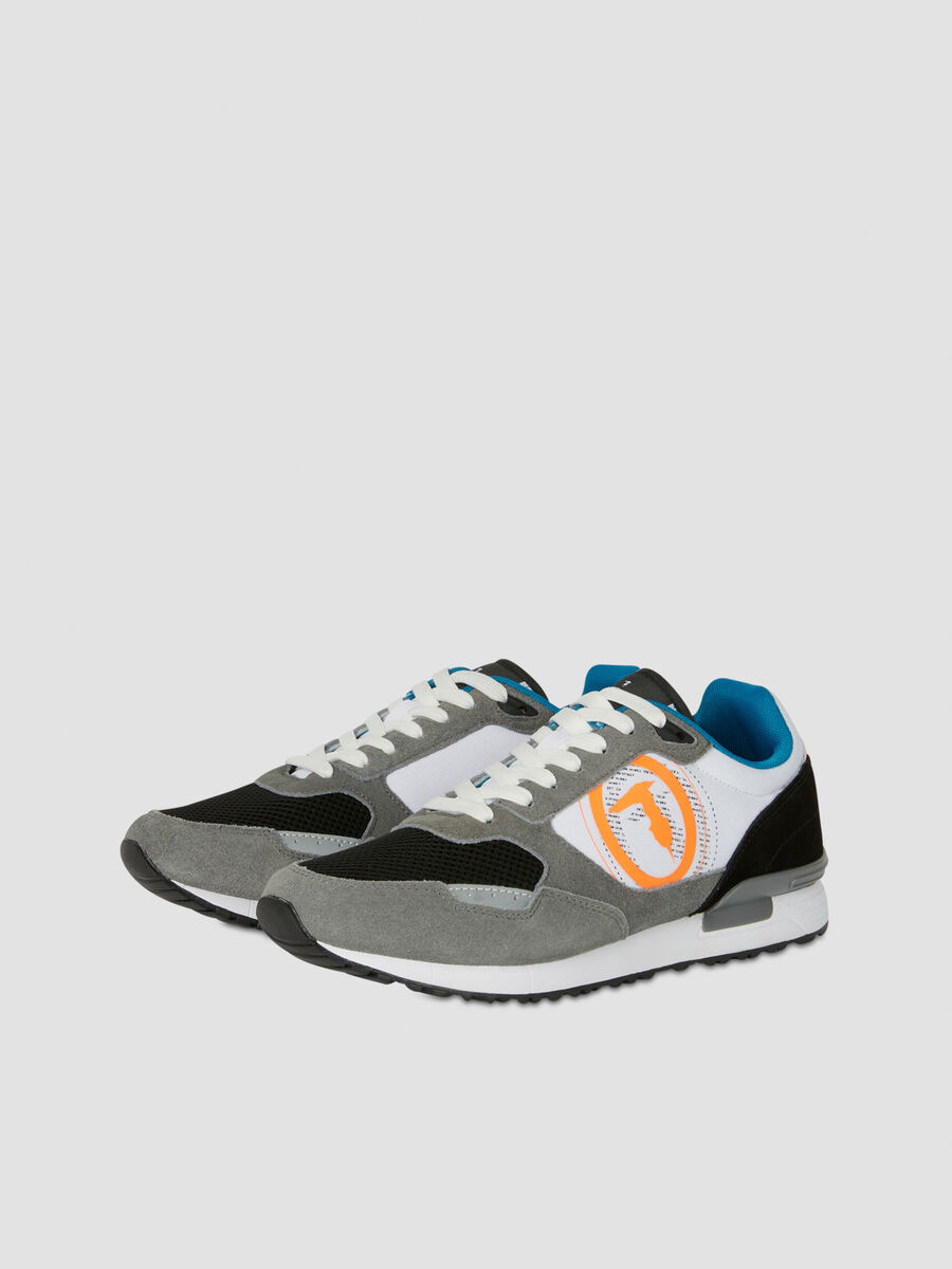 Nylon and suede Pentas running shoes