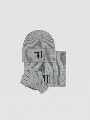 Wool blend hat scarf and glove set