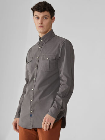 Camicia regular fit in gabardina light