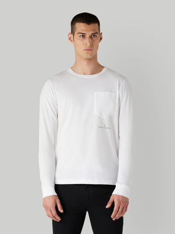 Regular-fit cotton T-shirt with breast pocket