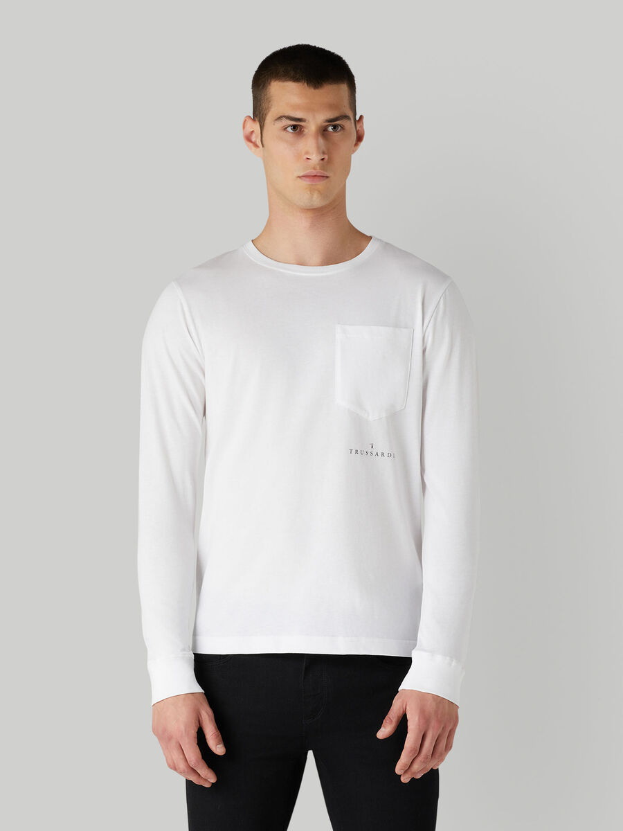 T-Shirt im Regular-Fit aus Baumwolle mit Brusttasche