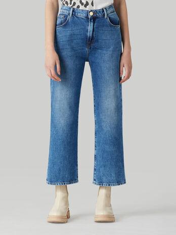 Jeans Wide in denim soft rigid
