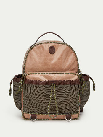 Tresor calfskin backpack with mesh detail