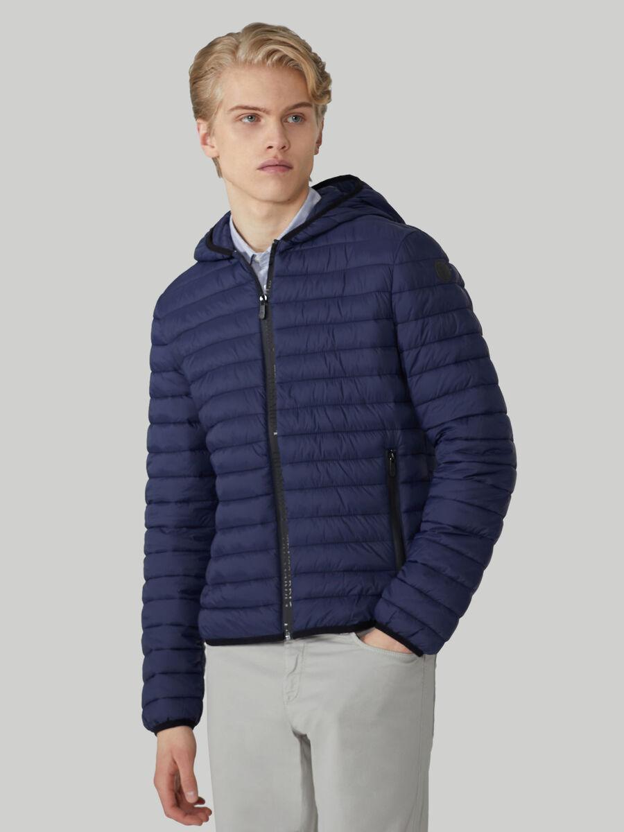 Light nylon down jacket with hood