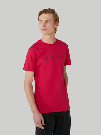 T-shirt regular fit in cotone con lettering