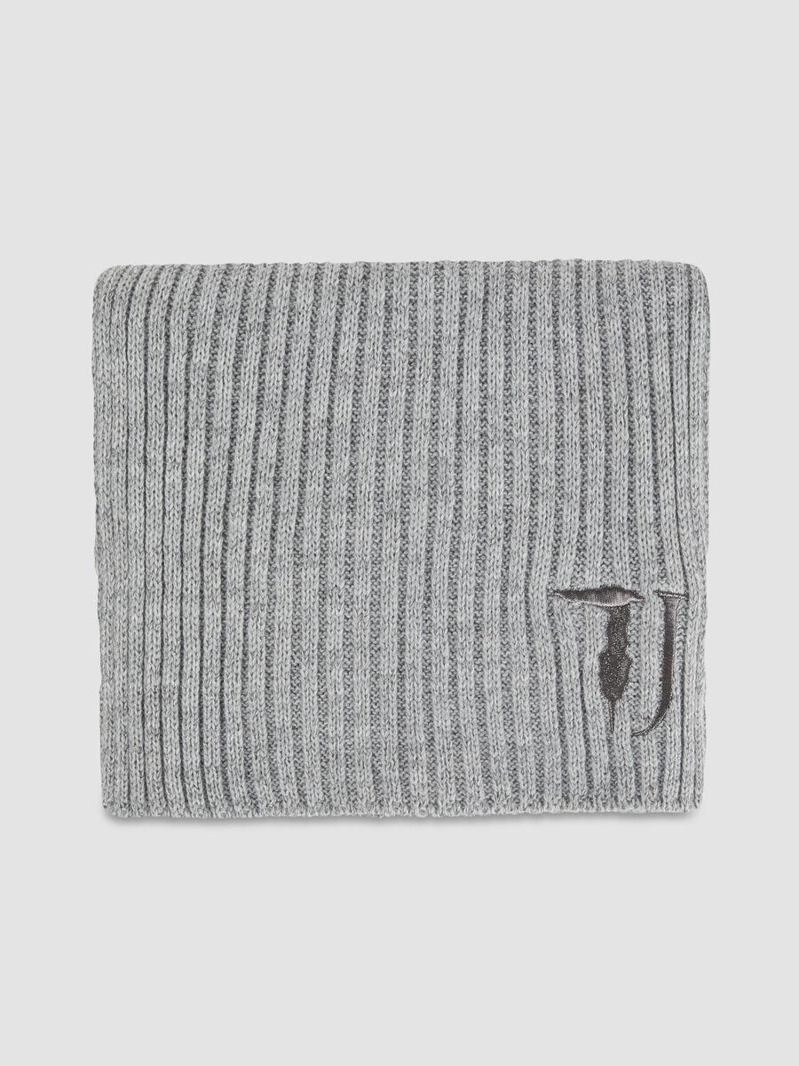Lurex monogram hat and scarf set