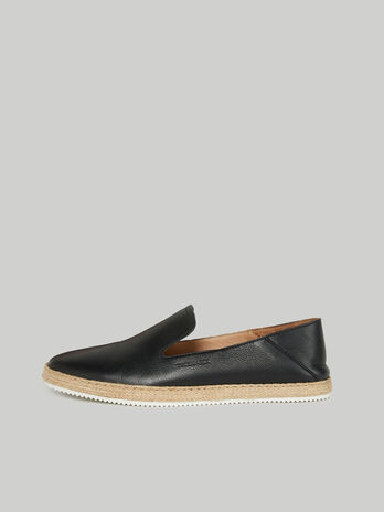 Deerskin-print leather espadrilles