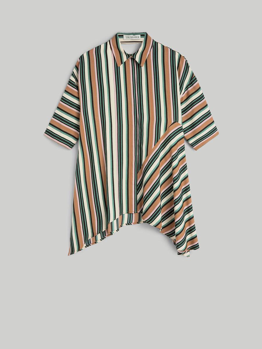 Striped viscose twill shirt